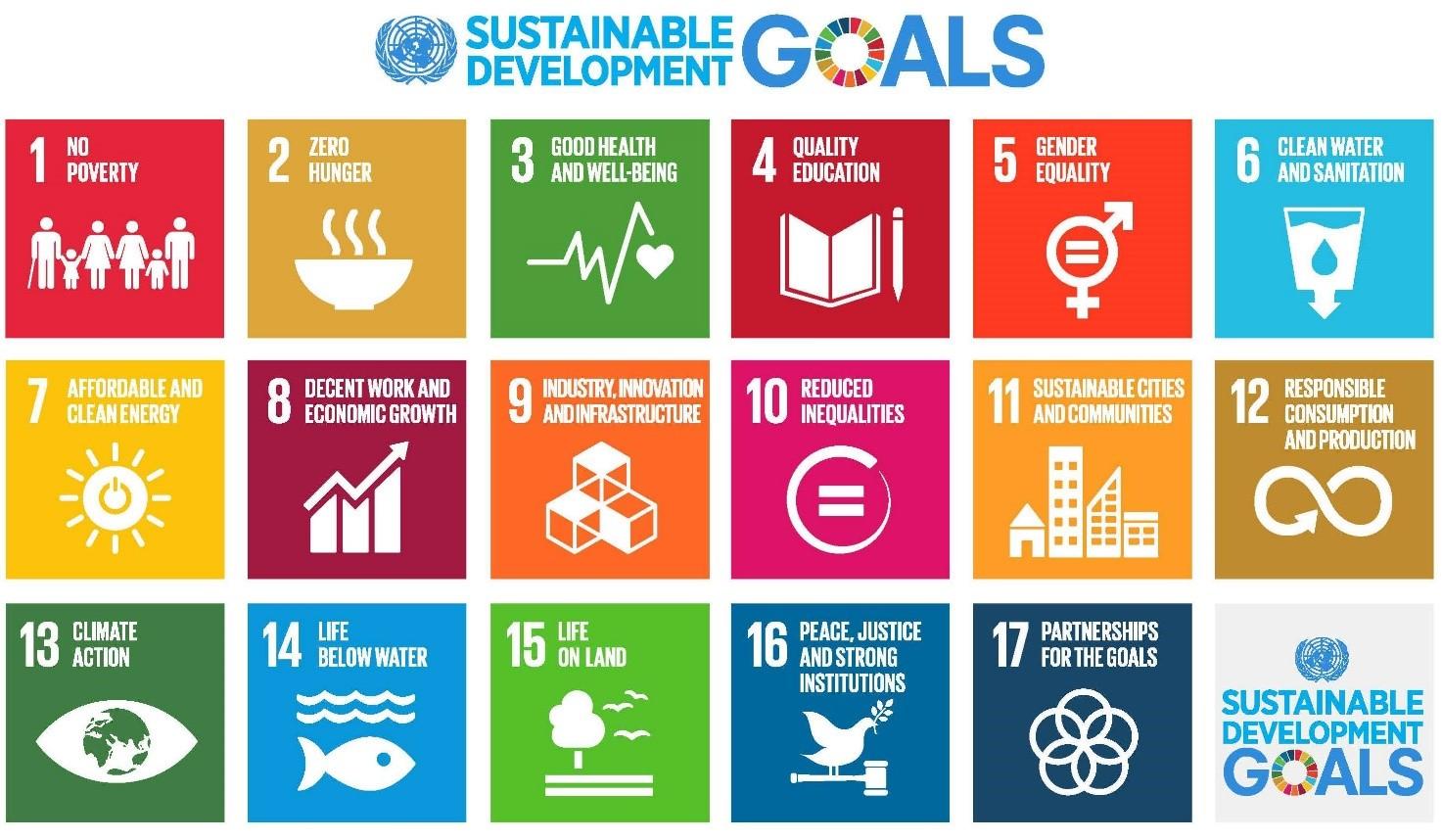 Sustainable Development Goals - SDGs definiti dall'ONU