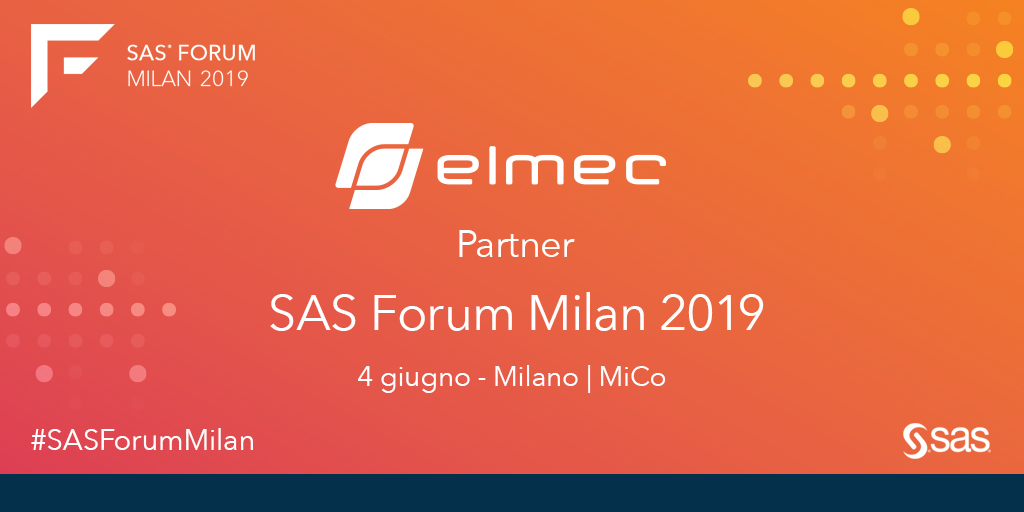 Le Analytics-as-a-Service di Elmec al SAS Forum 2019